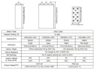 Bateria Opzs Série 2V3000AH com placas tubulares para Telecom/UPS/Segurança/ferroviário/Medical/Alarme/TV a cabo Execução
