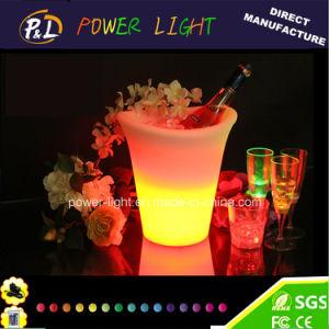 Secchio Colore-Cambiante di plastica del ghiaccio del vino LED della mobilia della barra