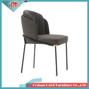 Banheira de vender o metal moderno Rose Golden Pernas Angioma em tecido de revestimento de cadeiras para refeições em restaurantes