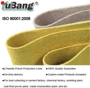 Bag Filter Dust Collector Filter Feltのためのガラス繊維Needle Felt
