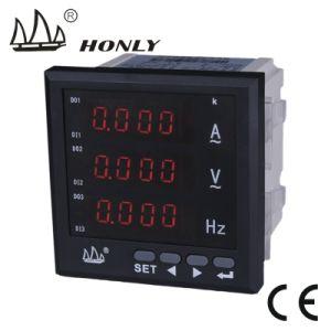 Sistema multifuncional de LCD 3 Fase Voltímetro/amperímetro digital, fator de potência, medidor de frequência
