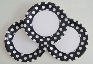 Vente chaude Polka Dots pour partie de la plaque de papier