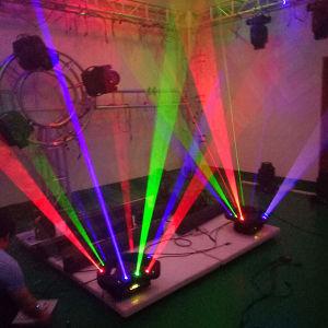 新しい9ヘッドDMX DJディスコの段階のくもRGBのレーザー光線
