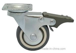 50mm Swivel TPR Castor com freio
