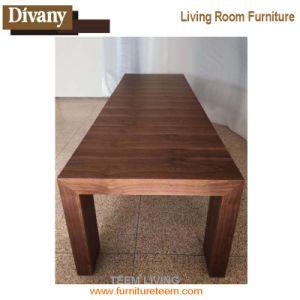 Природные орех деревянные выдвигаемая обеденный стол