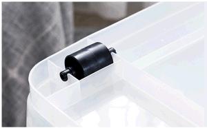 Heavy Duty colorés Hotsale Capacité Boîte de rangement en plastique PP Matériel bacs en plastique avec poignées et roues pour le ménage Package storage (15 litre à 150 litres)