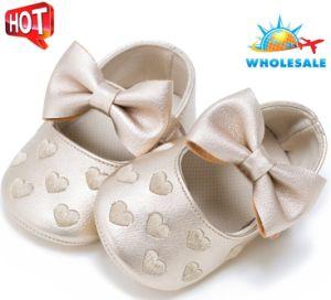 Les bambins brodé de gros de chaussures semelles doux Tassel l'intérieur des chaussures de bébé