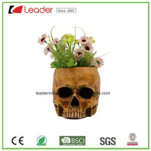 Decoración pintada a mano las sembradoras de cráneo para el hogar y jardín ornamentos