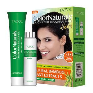 3.0 Herbal extrait de bambou Cosmétiques couleur naturelle des cheveux