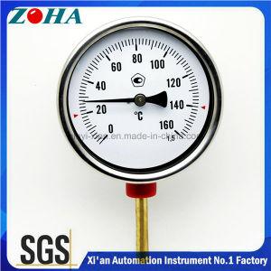 Chromstahl-Kasten-bimetallischer Thermometer mit MessingThermowell