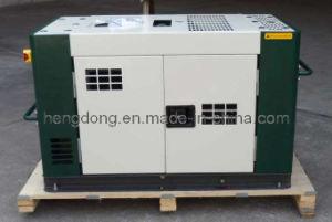 12kVA無声ディーゼル発電機(無声タイプは、涼しいに水をまく) (HD12SW)