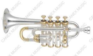 Trompette de petite flûte (GTR-300S)/trompette de piccolo instrument en laiton