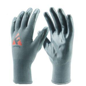 Нитриловые полиэфирная пленка с покрытием труда оболочки защитные перчатки из Китая