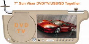 Visera 7 DVD/TV/FM/ranura para tarjetas SD/USB puertos + Función de la pantalla táctil