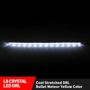 Lampada scorrente DRL bianco/ambrato del LED della nebbia dell'automobile del faro degli indicatori luminosi di striscia dell'indicatore luminoso di segnale di girata dell'automobile DRL LED