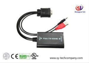 VGA aan Kabel HDMI met USB Macht 3.5mm Audio tot 1080P