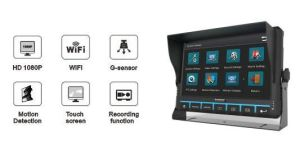 9 '' 6CH 1080 HD mobiles Auto DVR mit Touch Screen, Support WiFi, 3G/4G, GPS