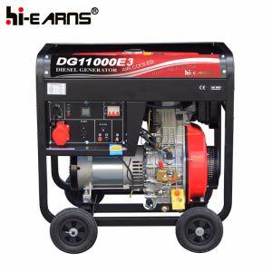 8kw triphasé du générateur diesel à quatre roues (DG11000E3)