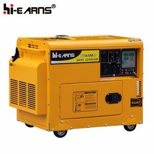 3kw 공냉식 침묵하는 유형 단 하나 실린더 디젤 엔진 발전기 세트 (DG3500SE)