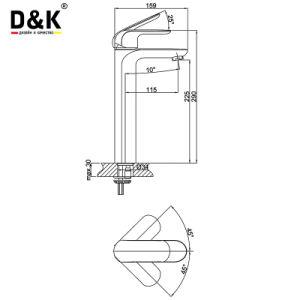 D&Kの衛生製品の高い蛇口の洗面器のコックの浴槽のミキサーのコック