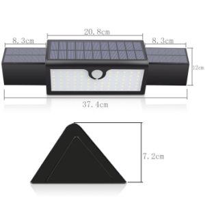 71 светодиодный датчик движения солнечного света для использования вне помещений Суперяркий солнечной энергии на базе беспроводной безопасности настенный светильник с 3 режимами подсветки