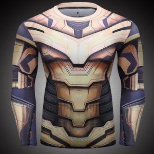 Plein de super-héros du sport d'impression par sublimation Shirts Vêtements hommes salle de gym de la formation