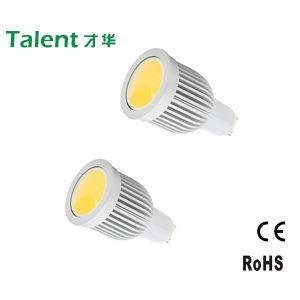 Aluminium-CER RoHS, GU10 MR16 Socket 7W COB LED Spotlight