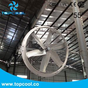 Alta velocidade do ventilador do painel de PRFV 55 polegada para gado com Amca e