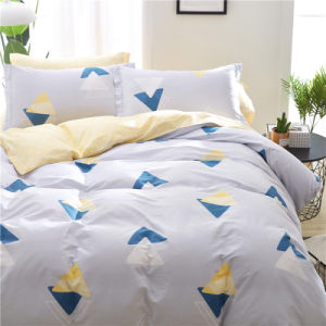 2018ロマンチックなポリエステルは安い寝具4PCSの寝具の一定のシーツを印刷した