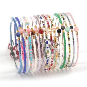 Moda Bracelete Charme Hand-Woven jóias com cordões importados