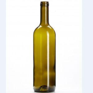 Neue Bordeaux-Flaschenglas-Wein-Flasche des Entwurfs-750ml dunkelgrüne