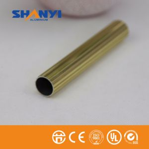 6063 profili di alluminio di Metarial della costruzione di colore dell'oro di ossidazione anodica T5/si sono sporti profilo di alluminio per Windows