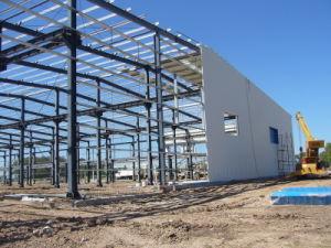 Stahlkonstruktion-Aufbau für Werkstatt-Gebäude