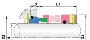 58mm abaixo para substituir as vedações de metal Mfl85n