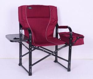 Direttore piegante di campeggio Chair del bracciolo esterno con Icebag & la Tabella