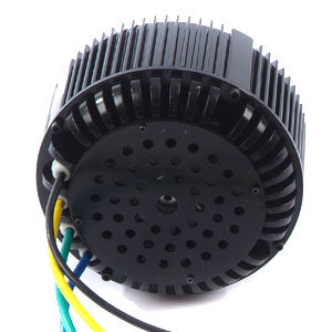 Vecのコントローラが付いている電気自動車BLDCモーターのための48V/72V Hpm10kwの空気冷却のブラシレス電動機