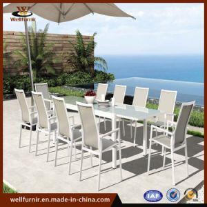 2018 Jardín Textilene tejido de malla de aluminio Muebles de comedor al aire libre (MI-528)