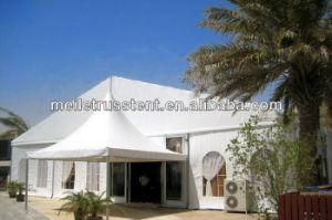 展覧会場の曲げられた正方形の玄関ひさし党結婚式のテント