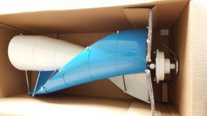 Heiß! WegRasterfeld 200W vertikale Mittellinien-Wind-Turbine mit gewundenem Typen Schaufeln