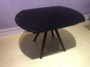 Venta caliente de vidrio moderna mesa de comedor para el hogar Oficina Restaurante