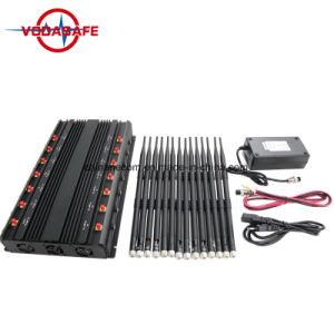 Stationaire 14bands Cellphone, wi-FI, Lojack, GPS, Stoorzender/Blocker; 14 antenne Al Telefoon van de Cel van Banden, GPS, WiFi, VHF, UHF, 4G, 315, 433, Lojack Stoorzender /Blocker