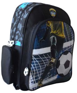 Mochila de Diseño de Fútbol de Chicos Bolsa de Libro de Estudiante de Escuela Mochila