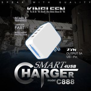 5A wir Pin 4-Port USB-Hauptwand-Aufladeeinheit kompatibel mit iPhone und Samsung-Telefonen
