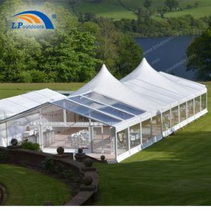 Tenda di alluminio di lusso romantica esterna di evento di cerimonia nuziale con l'alto picco