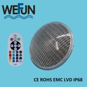 La nuova piscina subacquea di PAR56 LED illumina il colore di vetro spesso di RGB del materiale