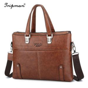 Sacchetto di spalla maschio della borsa del messaggero dell'ufficio degli uomini di affari leggeri del sacchetto