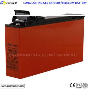 Плоский аккумулятор передней клеммой Гелиевый аккумулятор 12V150ah для солнечной энергетики
