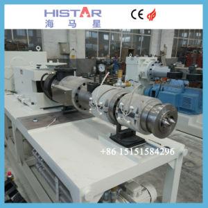 Electric de tuyaux en plastique PVC à double vis à vis conique de l'extrudeuse