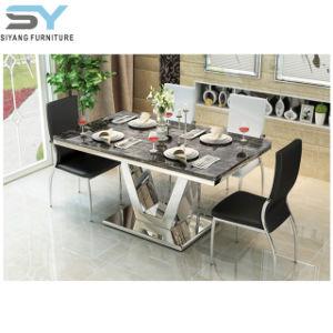 一定の大理石のダイニングテーブルの食卓を食事する家具の食事