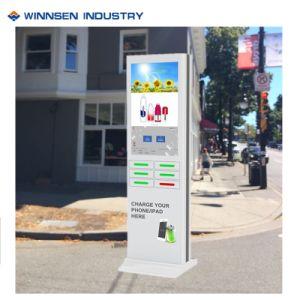 Estación de carga de la publicidad en pantalla digital